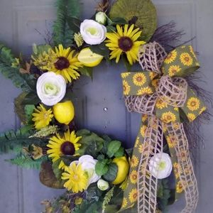 Custom lemon wreath